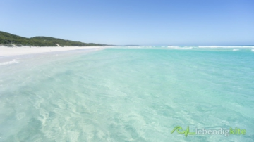 crystal clear blue water on the empty beach in Western Australia