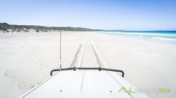 beach driving in Western Australia, soft Sand, Gopro camera mounted on the rooftop