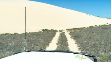 big sand dune barred the way of a Landcruiser Troopcarriers