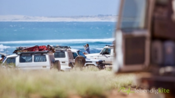 Landcruiser Troopcarrier at the wave spot in Gnaraloo Australia