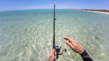 fishing in Australia, crystal clear blue water