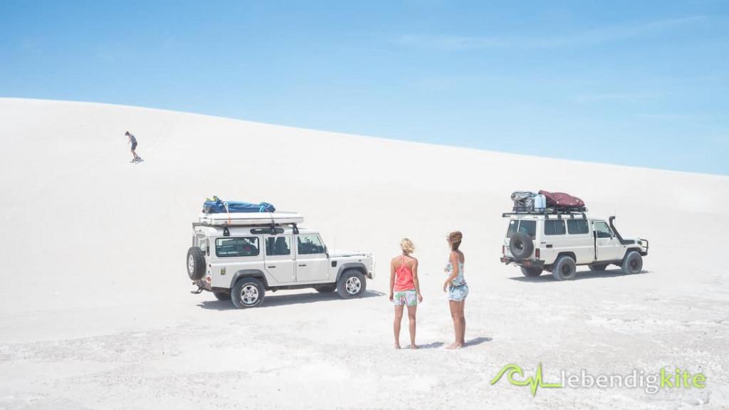Sandboarden dunes Lancelin Australia