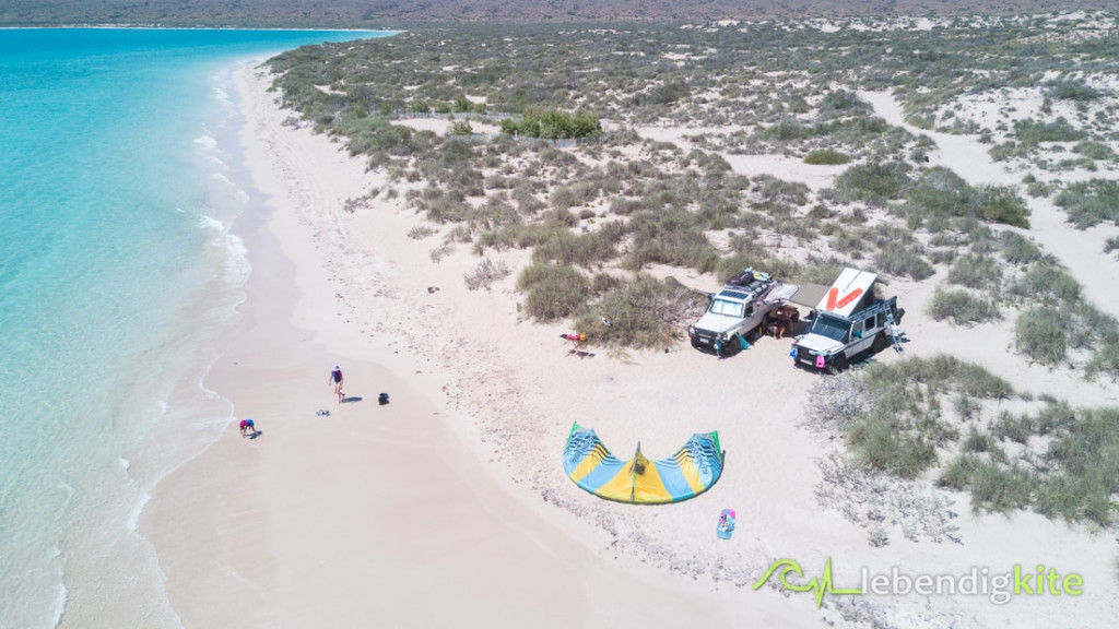 Camping kite surf holiday Australia
