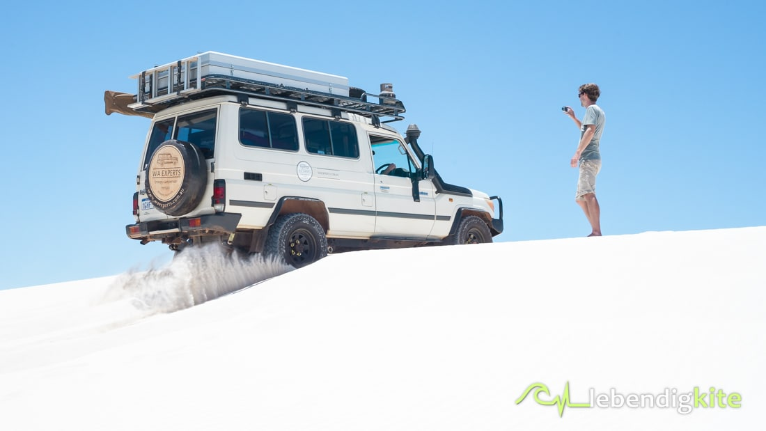 sand dunes offroad driving Lancelin tire pressure