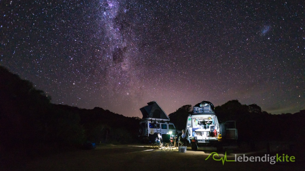 Camping Australia night sky milky way