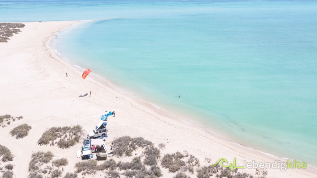 Australia Camping on the beach best kitesurfing spots