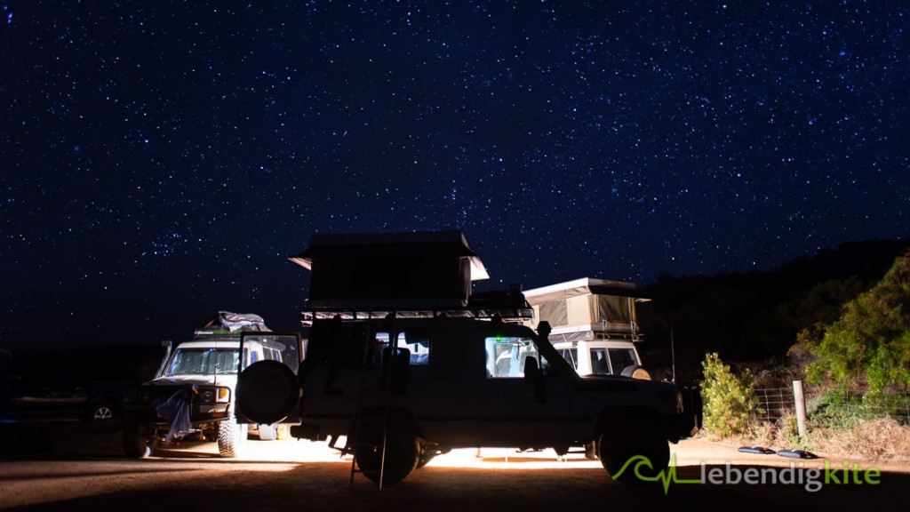 Camping night sky stars Australia Outback